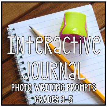 Interactive Writing Notebook Journal Set One, Photo Prompts Common Core Aligned