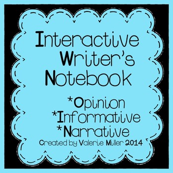 Interactive Writing Notebook K-3-Common Core