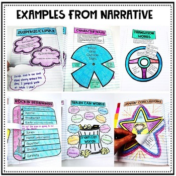 Interactive Writing Notebook Pages