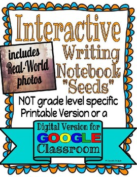 "Interactive Writing Notebook ""Seeds""- Digital and Printable Versions"