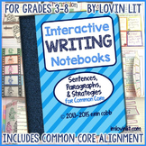Writing Interactive Notebooks: Writing Activities for Common Core 3-8