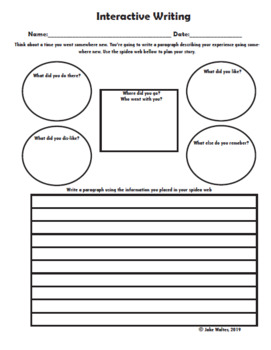Interactive Writing Prompt