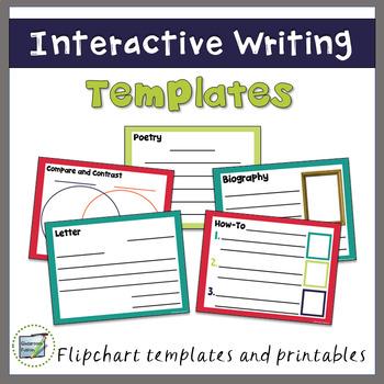 Interactive Writing Templates (Flipcharts & Printables)