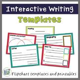 Digital Interactive Writing Templates (Flipcharts and Printables)