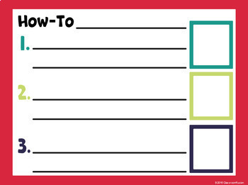 Digital Interactive Writing Templates (Flipcharts and Printables)