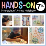 Interactive Writing Notebook Seventh Grade Common Core with Scaffolded Notes