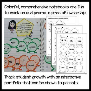 Interactive Writing Notebook First Grade Common Core