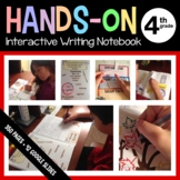 Interactive Writing Notebook Fourth Grade Common Core with Scaffolded Notes