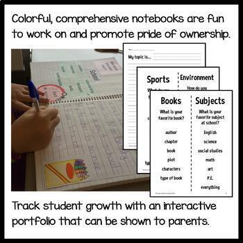 Interactive Writing Notebook Second Grade Common Core