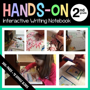 Interactive Writing Notebook Second Grade Common Core with Scaffolded Notes