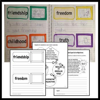 Interactive Writing Notebook Third Grade Common Core