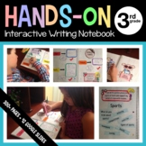 Interactive Writing Notebook Third Grade Common Core with Scaffolded Notes