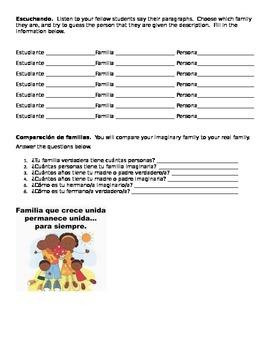 Interactive Writing/Speaking: Describing my family / Realidades 1 5a