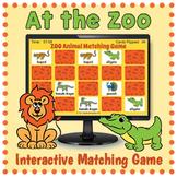 Zoo Animals Game - Digital Memory Game