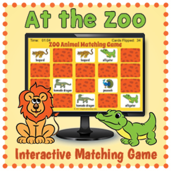 Zoo Animals Game - Digital Memory Game