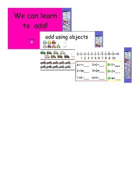 Interactive activity for kindergarten addition 0-5