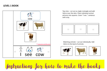 Interactive/adapted book: Animal books