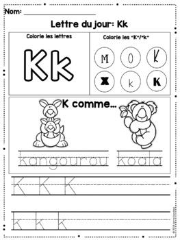 Interactive alphabet notebook (FRENCH)