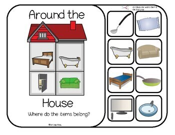 Household Items, Interactive Around the House Categorizing - Where do items go?