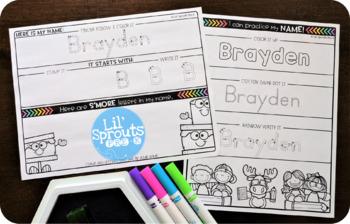 Interactive and Editable Name Practice - Easy Peasy August - Prek, Kindergarten
