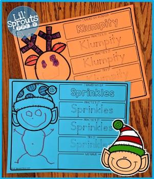 Interactive and Editable Name Practice - Easy Peasy December- Prek, Kindergarten