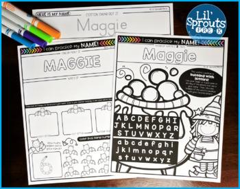Interactive and Editable Name Practice - Easy Peasy October - Prek, Kindergarten