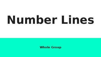 Interactive and Editable Number Line Resource (4.3G)