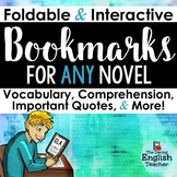 Interactive Bookmarks for Any Novel: Questions, Literary Analysis, Vocabulary