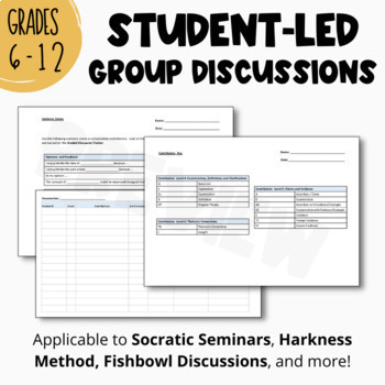 Interactive and Student-led GROUP DISCUSSION OUTLINE | Secondary Classroom
