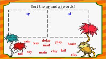 Interactive ay and ai Word Work