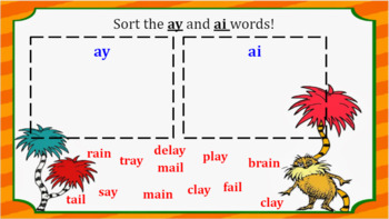 Google Classroom- Interactive ay and ai Word Work