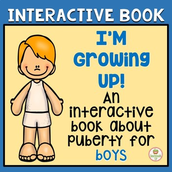 Interactive books Boys puberty hygiene