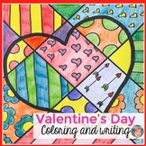 Valentine's Day Interactive Coloring + Writing