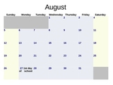 Interactive elementary math calendar