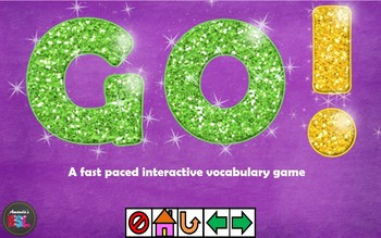 ESL/EFL Interactive Game Template - Go! Game - Power Point