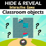 Interactive game Hide & Reveal - CLASSROOM OBJECTS