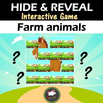 Interactive game Hide & Reveal - FARM ANIMALS