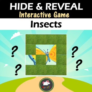 Interactive game Hide & Reveal - INSECTS