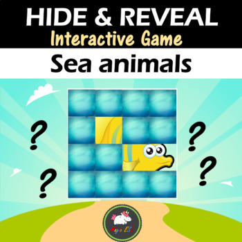 Interactive game Hide & Reveal - SEA ANIMALS