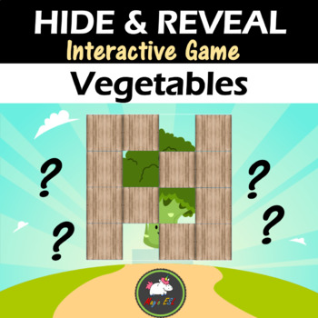 Interactive game Hide & Reveal - VEGETABLES