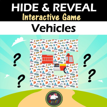 Interactive game Hide & Reveal - VEHICLES