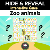 Interactive game Hide & Reveal - ZOO ANIMALS