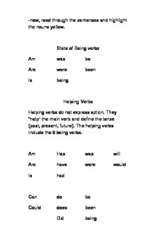 Interactive grammar notes on writing complete sentences