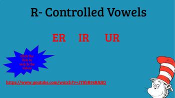 Interactive ir, er, ur Word Activities