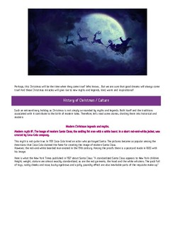 """Interactive lesson for study. Case """"Christmas Myths"""""""