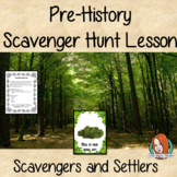 Interactive lesson on Stone Age, Pre-history, Scavengers a