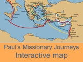 Interactive map of Paul's missionary journeys