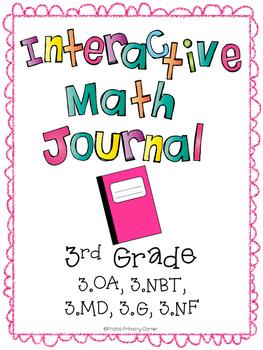 Interactive math journal/notebook (ALL 3rd grade Common Core Standards)