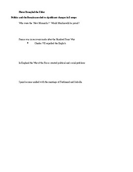 Interactive note guide for Renaissance ppt