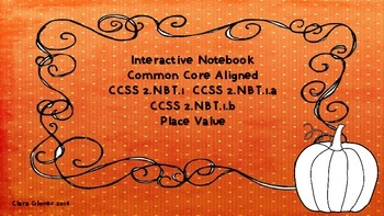Interactive notebook  Common Core Aligned